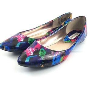 Steve Madden Faux Patent Leather Ibiza Flats